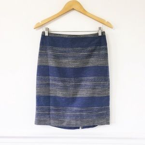 The Limited Stripes Cotton Pencil Skirt